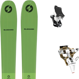 BLIZZARD ZERO G 095 GREEN 22 + DYNAFIT SPEED TURN 2.0 BRONZE/BLACK 21