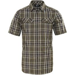 THE NORTH FACE M S/S PINE KNOT SHIRT NEW TAUPE GREEN PLAID 19
