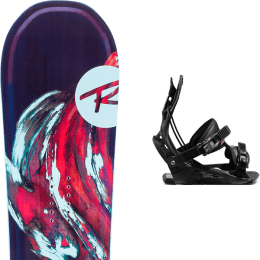 Pack snowboard ROSSIGNOL ROSSIGNOL DIVA LF (LITE FRAME) + FLOW WM'S JUNO FUSION BLACK - Ekosport