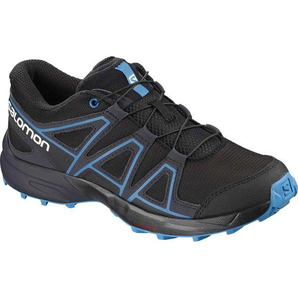 SALOMON Chaussure trail Speedcross J Black/gy/hawaiian Enfant Noir/Bleu taille 33