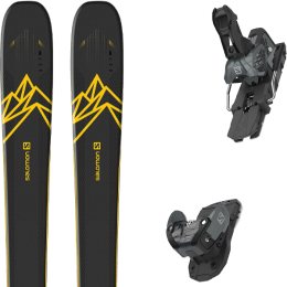 Pack ski alpin SALOMON SALOMON QST 92 DARK BLUE/YELLOW 20 + SALOMON WARDEN MNC 13 N BLACK/GREY 20 - Ekosport