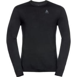 Textile ODLO ODLO T-SHIRT ML NATURAL 100% MERINO BLACK 21 - Ekosport