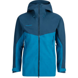 MAMMUT CRATER HS HOODED JACKET MEN SAPPHIRE/WING TEAL 21