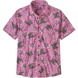 PATAGONIA M'S GO TO SHIRT COTTON BALL GATORS:MARBLE PINK 20