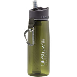 LIFESTRAW GO 2 STAGES GOURDE PAILLE GREEN + CHARBON 21