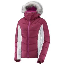 Textile SALOMON SALOMON ICETOWN JKT W BEET RED/WHITE 18 - Ekosport