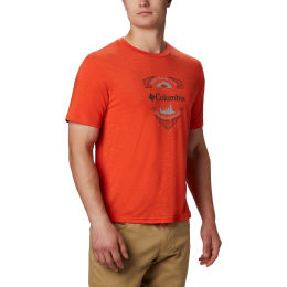 COLUMBIA NELSON POINT GRAPHIC S/S TEE WILDFIRE 20