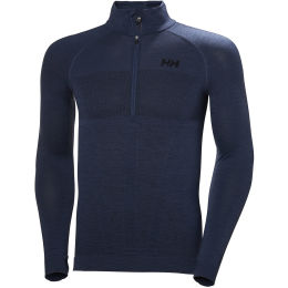 HELLY HANSEN H1 PRO LIFA SEAMLESS 1/2 ZIP NORTH SEA BLUE 21