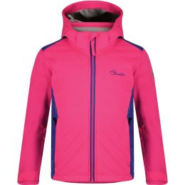 DARE 2B UNRAVELLED SOFTSHELL KIDS CYBER PINK/CLEMATIS 21