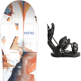 Snowboard NITRO NITRO SANTOKU 21 + FLOW NX2 FUSION BLACK 21 - Ekosport