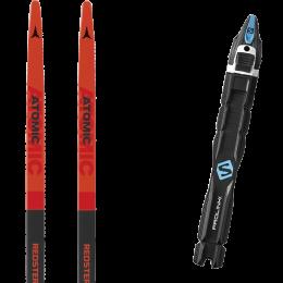 ATOMIC REDSTER S9 MED RED/JET BLACK/W 21 + SALOMON PROLINK RACE SKATE 22