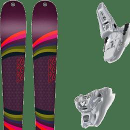 Pack ski alpin K2 K2 MISSCONDUCT + MARKER SQUIRE 11 ID WHITE - Ekosport