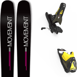 Pack ski alpin MOVEMENT MOVEMENT GO 100 WOMEN 19 + LOOK SPX 12 GW B100 KAKI/YELLOW 20 - Ekosport