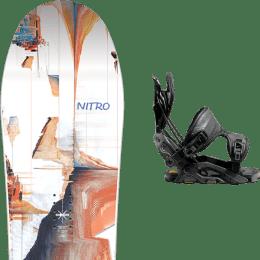 BU Ski Alpin NITRO NITRO SANTOKU 21 + FLOW FUSE-GT FUSION BLACK 21  - Ekosport