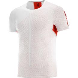 SALOMON S/LAB SENSE TEE M WHITE/RACING RED 21
