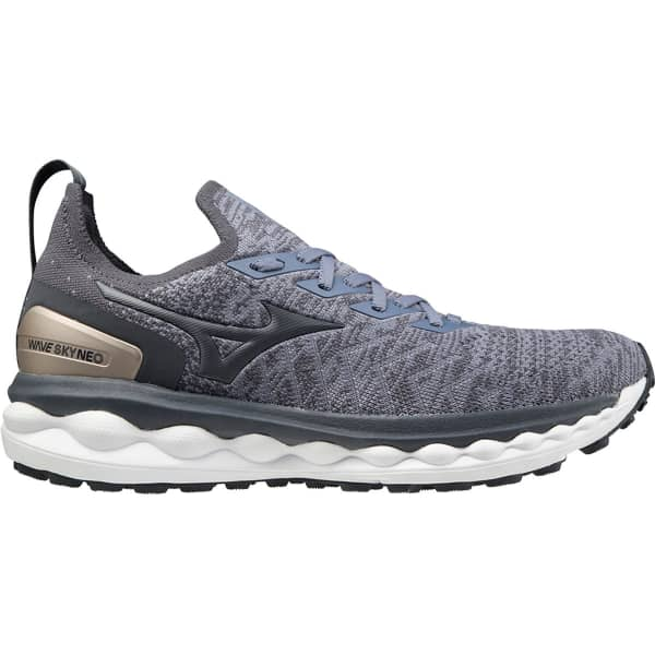 MIZUNO Chaussure running Wave Sky Neo Folkstone Gray/ebony/platinum Gold Homme Gris taille 6.5