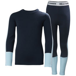 HELLY HANSEN JR LIFA MERINO MIDWEIGHT SET NAVY 21