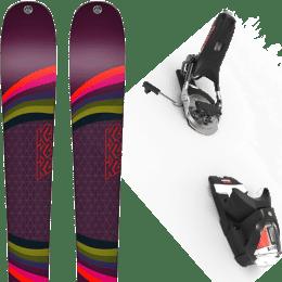 Pack ski alpin K2 K2 MISSCONDUCT + LOOK PIVOT 12 GW B95 BLACK/ICON - Ekosport