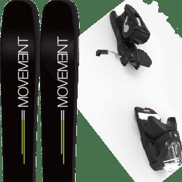 Pack ski alpin MOVEMENT MOVEMENT GO 109 19 + LOOK NX 12 GW B100 BLACK 21 - Ekosport