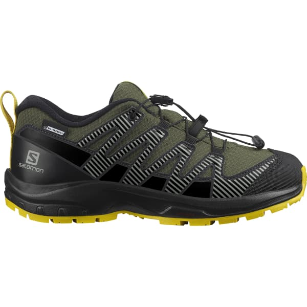 SALOMON Chaussure trail Xa Pro V8 Cswp Jr Olive Night/black/sulphur Enfant Vert taille 33