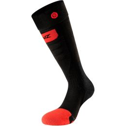 LENZ HEAT SOCK 5.0 TOE CAP SLIM FIT BK/RED/GRY 21