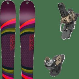 Pack ski alpin K2 K2 MISSCONDUCT + SALOMON WARDEN MNC 13 N OTTER - Ekosport
