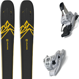 Boutique SALOMON SALOMON QST 92 DARK BLUE/YELLOW 20 + MARKER 11.0 TCX WHITE 20 - Ekosport