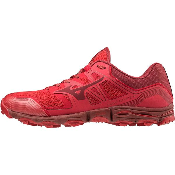 MIZUNO Chaussure trail Wave Hayate 6 Cred/biking Red Homme Rouge taille 7