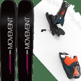 Pack ski alpin MOVEMENT MOVEMENT GO 100 WOMEN 19 + LOOK SPX 12 GW B120 PETROL/ORANGE 20 - Ekosport
