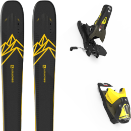 Pack ski alpin SALOMON SALOMON QST 92 DARK BLUE/YELLOW 20 + LOOK SPX 12 GW B100 KAKI/YELLOW 20 - Ekosport