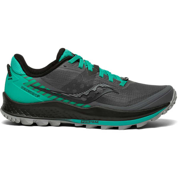 SAUCONY Chaussure trail Peregrine 11 W Shadow/jade Femme Gris/Vert taille 6
