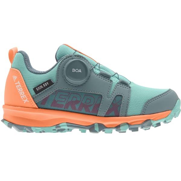 ADIDAS Chaussure trail Terrex Agravic Boa Kids Rain.rdy Hazy Emerald Enfant Vert/Orange/Gris taille 30