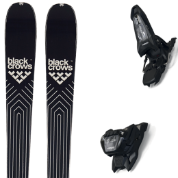 BLACK CROWS DIVUS 21 + MARKER GRIFFON 13 ID BLACK 21