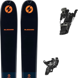 BLIZZARD ZERO G 105 BLUE/ORANGE 22 + ATOMIC BACKLAND TOUR BLACK/GUNMETAL 110 21