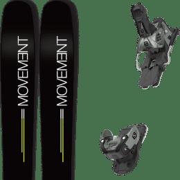 Pack ski alpin MOVEMENT MOVEMENT GO 109 19 + SALOMON WARDEN MNC 13 N OIL GREEN 20 - Ekosport