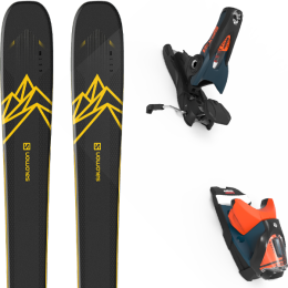 Pack ski alpin SALOMON SALOMON QST 92 DARK BLUE/YELLOW 20 + LOOK SPX 12 GW B120 PETROL/ORANGE 20 - Ekosport
