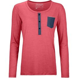 ORTOVOX 120 COOL TEC LONG SLEEVE W HOT CORAL BLEND 20