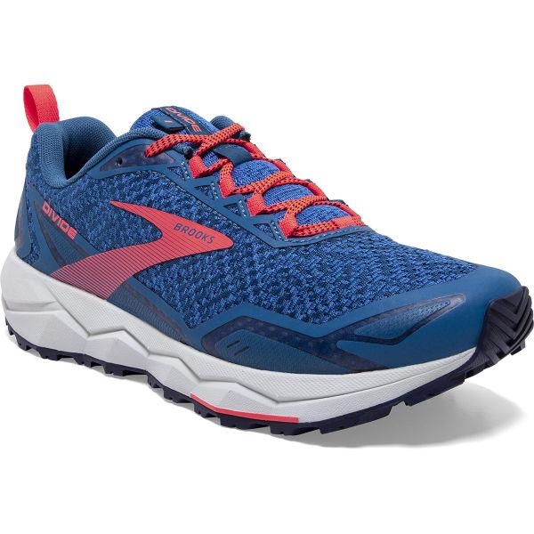 BROOKS Chaussure trail Divide W Blue Sapphire/blue/coral Femme Bleu/Rose taille 5.5