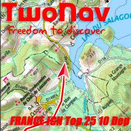TWONAV FRANCE IGN TOP25 10 DÉPARTEMENTS 21
