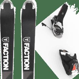Pack ski alpin FACTION FACTION MOGUL 19 + LOOK PIVOT 14 GW B75 BLACK/ICON 22 - Ekosport