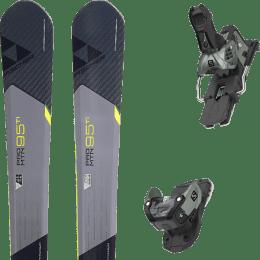 Pack ski alpin FISCHER FISCHER PRO MTN 95 TI 17 + SALOMON WARDEN MNC 13 N OIL GREEN 20 - Ekosport