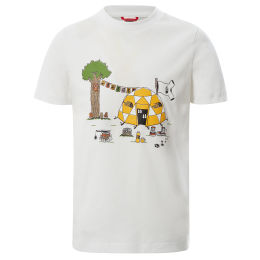THE NORTH FACE Y S/S GRAPHIC TEE TNF WHITE DOME TENT PRINT 21