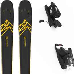 Pack ski alpin SALOMON SALOMON QST 92 DARK BLUE/YELLOW 20 + LOOK NX 12 GW B100 BLACK 21 - Ekosport