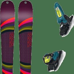 Pack ski alpin K2 K2 MISSCONDUCT + MARKER GRIFFON 13 ID TEAL/FLO-YELLOW - Ekosport