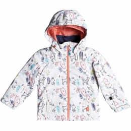 Vêtement de ski ROXY ROXY MINI JETTY JKT BRIGHT WHITE ANIMALS PARTY 19 - Ekosport