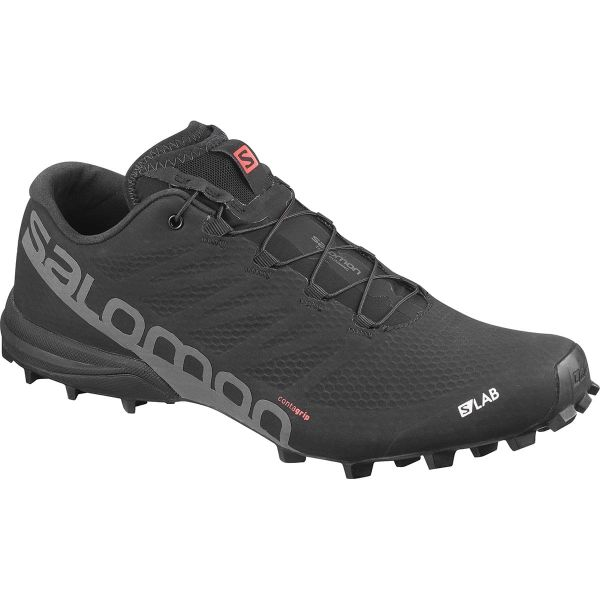 SALOMON Chaussure trail S/lab Speed 2 Black/racing Red/wh Homme Noir taille \