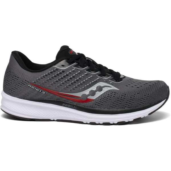 SAUCONY Chaussure running Ride 13 Charcoal/black Homme Gris taille 8.5