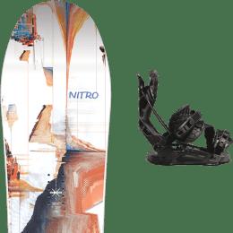 BU Ski Alpin NITRO NITRO SANTOKU 21 + FLOW NX2 HYBRID BLACK 21 - Ekosport