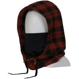 686 TARMAC FLEECE HOOD RUSTY RED PLAID 20