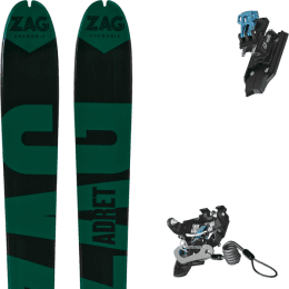 Ski randonnée ZAG ZAG ADRET 81 20 + SALOMON N MTN PURE BLACK/BLUE W BR 21 - 010 - Ekosport